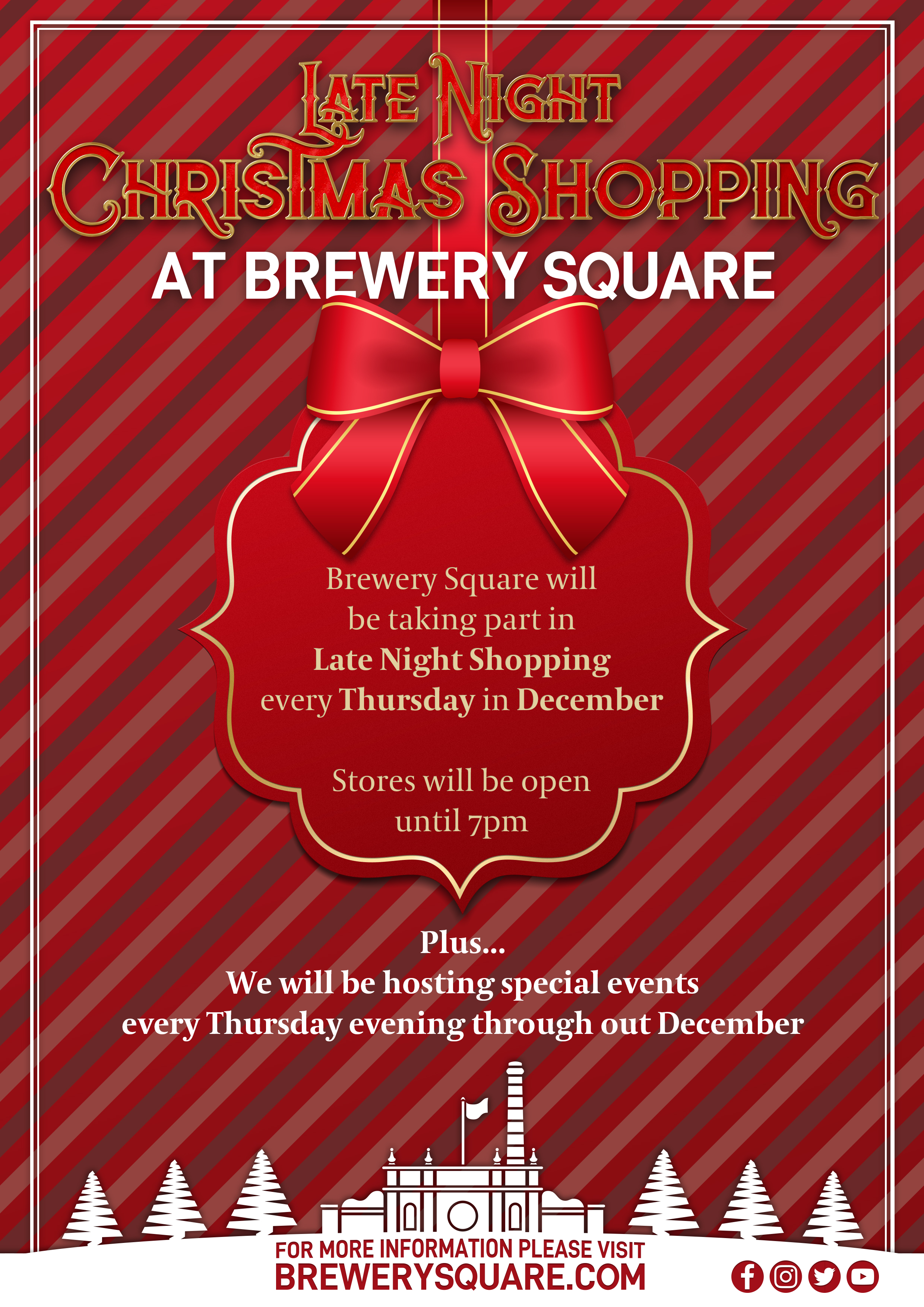 Late Night Christmas SHopping in Brewery Square Poster